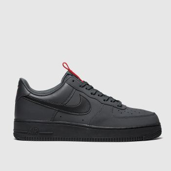 Nike Dark Grey Air Force 1 07 Mens Trainers