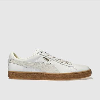 Puma White Basket Classic Mens Trainers