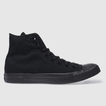 Converse Black All Star Mono Hi Mens Trainers