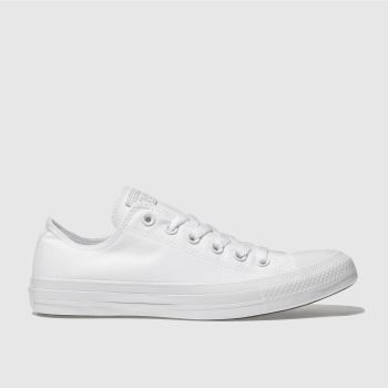 Converse White All Star Mono Ox Trainers