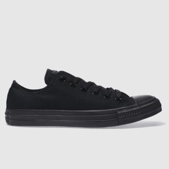 Converse Black All Star Mono Ox Mens Trainers