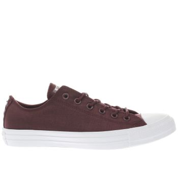 CONVERSE BURGUNDY ALL STAR OX TRAINERS