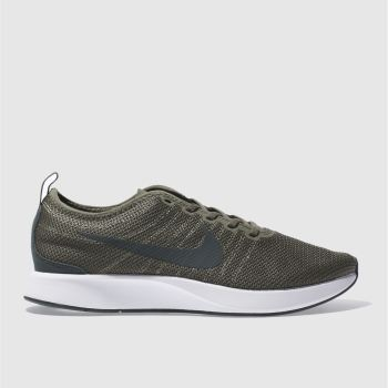 newest be784 f74c5 NIKE DARK GREEN DUALTONE RACER TRAINERS