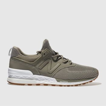 NEW BALANCE GREY 574 SPORT TRAINERS