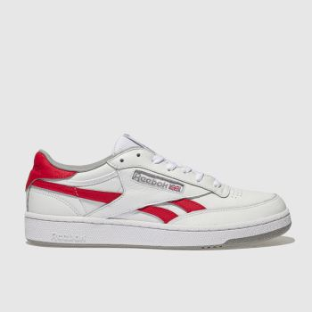 Reebok White & Red Revenge Plus Mens Trainers