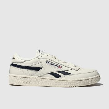Reebok White & Navy Revenge Plus Mens Trainers