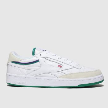 Reebok White & Green Revenge Plus Mens Trainers