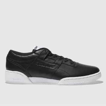 Reebok Black Workout Lo Clean Iconic Detail Mens Trainers