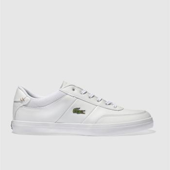 super popular b0a06 dfead Lacoste White Court-Master Mens Trainers