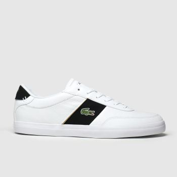 Lacoste White & Black Court-master Mens Trainers