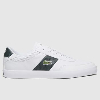 Lacoste White & Green Court-master Mens Trainers