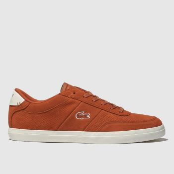 lacoste orange court-master trainers