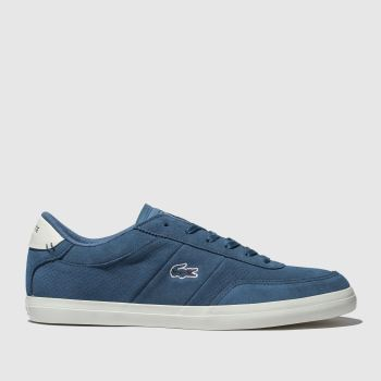 lacoste blue court-master trainers