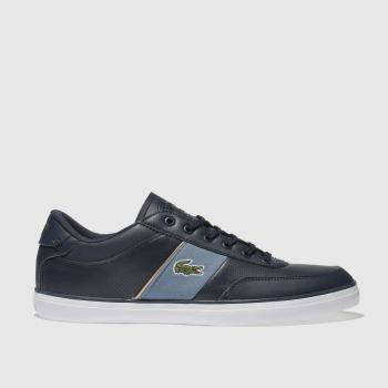 Lacoste Navy & Pl Blue Court-Master Mens Trainers