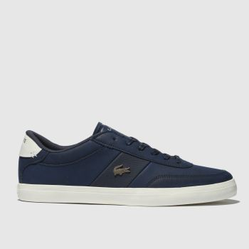 Lacoste Navy & White Court-master Mens Trainers