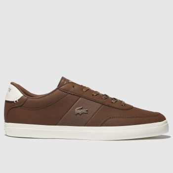 Lacoste Brown Court-Master Mens Trainers