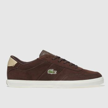 dce6c873125a64 Lacoste Brown Court-Master Mens Trainers