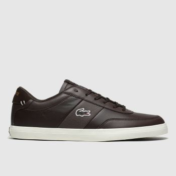 Lacoste Dark Brown Court-master c2namevalue::Mens Trainers