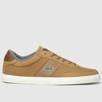 Lacoste Tan Court-master Mens Trainers