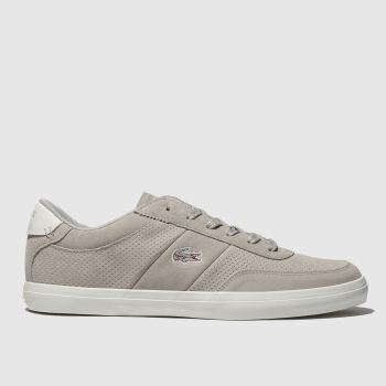 Lacoste Light Grey Court-Master Mens Trainers