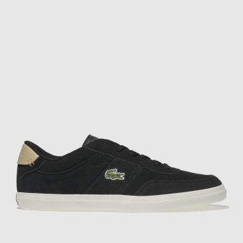 3966d70205a Lacoste Black   White Court-Master Mens Trainers