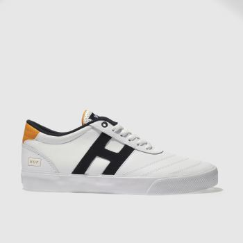 Huf White & Black GALAXY Trainers