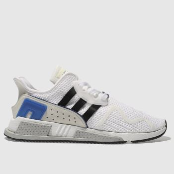 ADIDAS WHITE & BLACK EQT CUSHION ADV TRAINERS