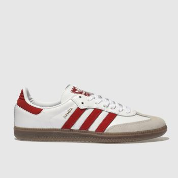 Adidas White & Red Samba Og Mens Trainers