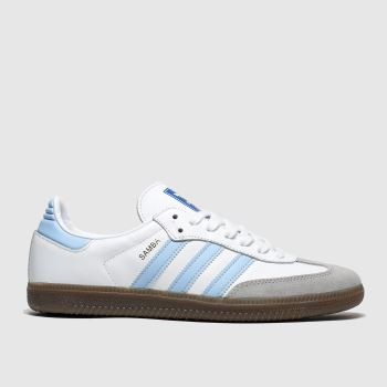 Adidas White & Pl Blue Adi Samba Og c2namevalue::Mens Trainers