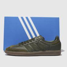samba og ft adidas khaki trainers I7gyvY6bf