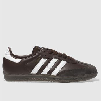 Adidas Dark Brown Samba Og Mens Trainers