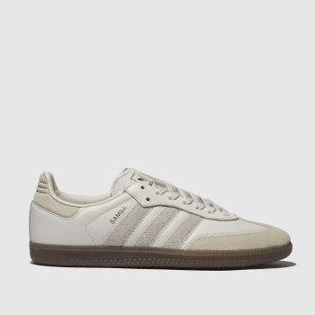 adidas light grey samba og ft trainers