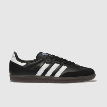 Adidas Black & White Samba Og Mens Trainers