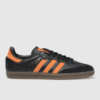 Adidas Black & Orange Samba Og Mens Trainers