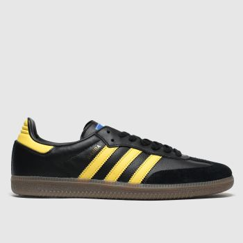 Adidas Black & Brown Samba Og Mens Trainers#