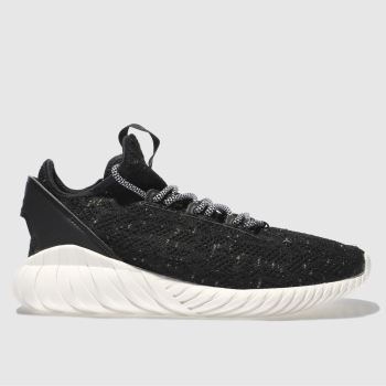 ADIDAS BLACK TUBULAR DOOM SOCK PRIMEKNIT TRAINERS
