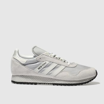 Adidas Light Grey New York Mens Trainers