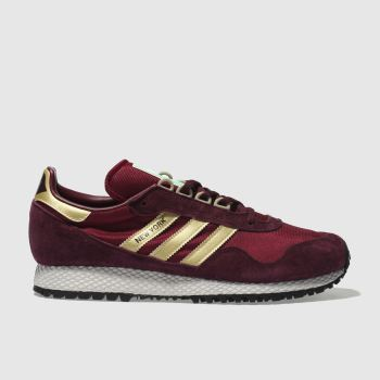 Adidas Burgundy New York Mens Trainers