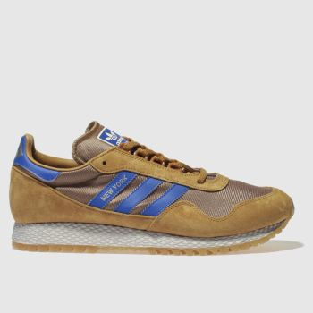 ADIDAS TAN NEW YORK TRAINERS