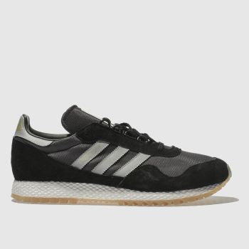 ADIDAS BLACK & GREY NEW YORK TRAINERS