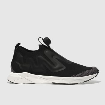 Reebok Black & Grey Pump Supreme Mens Trainers