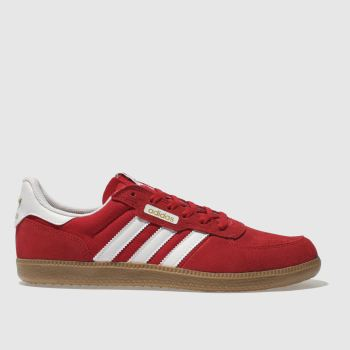 Adidas Skateboarding Red Leonero Mens Trainers