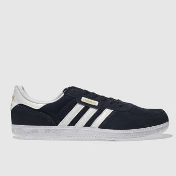 Adidas Skateboarding Navy & White Leonero Mens Trainers