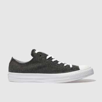 Converse Black Chuck Taylor All Star Ox Terry Mens Trainers