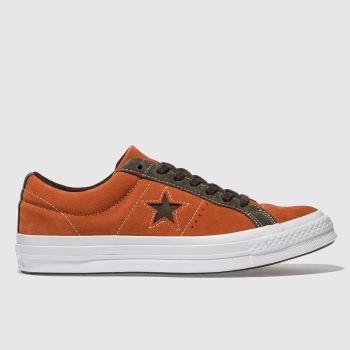 Converse Orange One Star Ox Mens Trainers