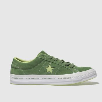 CONVERSE GREEN ONE STAR OX TRAINERS