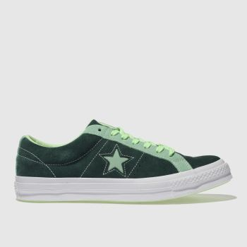 26524406ae5 mens dark green converse one star ox trainers