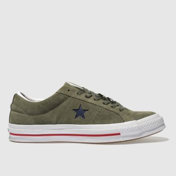 CONVERSE KHAKI ONE STAR OX TRAINERS