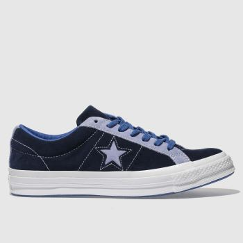Converse Navy & Pl Blue One Star Ox Mens Trainers