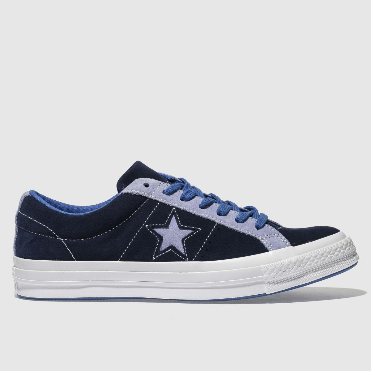 Converse Navy & Pl Blue One Star Ox Trainers